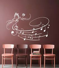 Music Wall Decals Notes Decal Vinyl Stickers Butterfly Art Bedroom Decor Mn650 19 99 Picclick