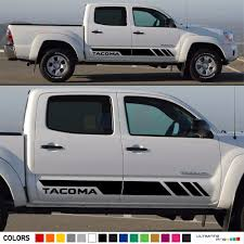 Decal Sticker Stripes Kit For Toyota Tacoma Side Steps 2013 2017 2016 2015 2014 Ultimateprocy1ulti10deca15 Stripe Kit Toyota Tacoma Toyota Tacoma Lifted