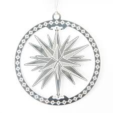 silver moravian star ornament