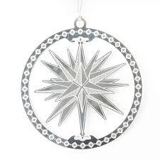 silver moravian star ornament