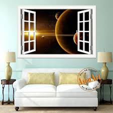 Scenic Outer Space Window View Wall Decals The Decal House