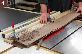 How To Cut Rough Edge Board Table Saw Slab Cutting