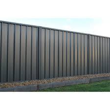 Fielders 1 8m Rivergum Double Sided Steel Fencing Panel Metal Fence Panels Metal Fence Fence Panels
