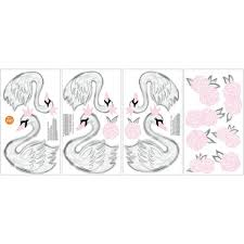 Pink Swan Song Wall Decal Dwpk2706 The Home Depot