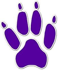 Amazon Com Big Cat Paw Print Vinyl Decal Sticker 12 X 14 5 Purple Home Kitchen