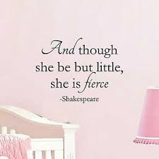 And Though She Be But Little She Is Fierce Wall Vinyl Decal Sticker Nursery Ebay