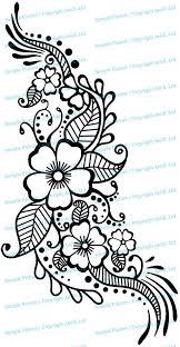 Henna Tattoo Wall Vinyl Sticker Floral Flower Mandala Art Paisley Mehndi Indian Decal Decor Inspired Stencil Black Home Room Joga Mural Flower Henna Henna Tattoo Designs Henna Patterns