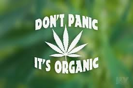Dont Panic Its Organic Decal 420 Weed Laptop Sticker Pot Leaf Car Deca Nystash