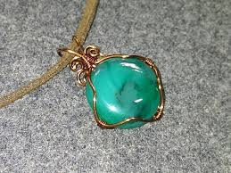 wire wrap pendant with stone no holes