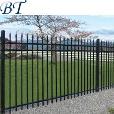 China 6 Ft High X 8 Ft Wide Welded Powder Coated Picket Steel Ornamental Fencing China Wrought Iron Fence Designs Security Wrought Iron Fence