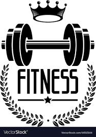 fitness sport logo templates vector image