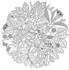 Kleuren Voor Volwassenen Herfst Mandala Herfst 1 Coloriage