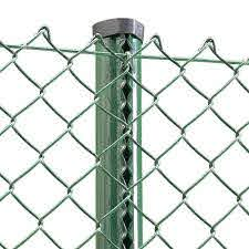 Green Pvc Coated Chain Link Fencing Kit Straight Run