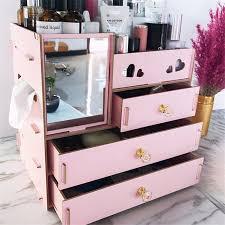 hot wooden makeup storage box