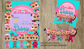 Cry Babies Bebes Llorones Party Invitation Banner