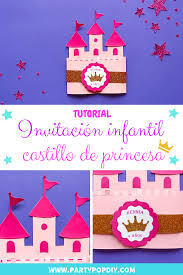 Invitacion Castillo De Princesa Party Pop