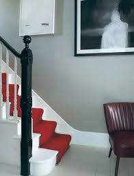 red carpet stairs with images