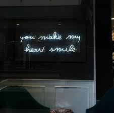 New You Make My Heart Smile White Pub Logo Acrylic Neon Light Sign 24 X10 Ebay