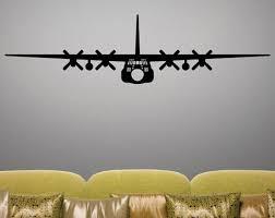 C 130h Hercules Removable Wall Art Vinyl Decal Sticker Wall Art Airplanes Wall Decals Airplane Wall