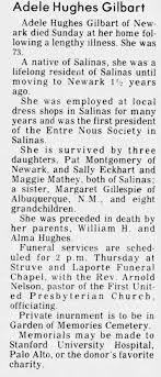 Obituary for Adele Hughes Gilbart (Aged 73) - Newspapers.com