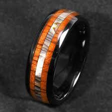 mens 8mm black tungsten carbide steel