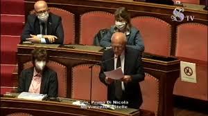 Primo Di Nicola (M5S) - Intervento Aula Senato - 12/5/2020 - YouTube