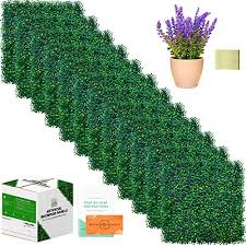 Creative Space Outdoor Privacy Screen Artificial Boxwood Fence Panels 12 Pcs 20 X 20