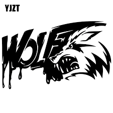 Yjzt 20x12 5cm Personality Bloody Angry Wolf Teeth Vinyl Decal Car Window Sticker Black Silver S8 1421 Car Window Sticker Stickers Blackdecals Car Aliexpress