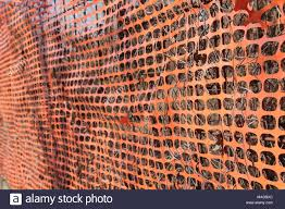 Construction Site With Safety Orange Fence Stock Photo Alamy
