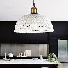nordic white ceramic pendant light