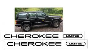Graphic Express 1997 Jeep Cherokee Xj Limited Door Decal Set