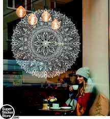 Mandala Wall Stickers Window Front Coffee Shop Decal Home Bedroom India Rosetta Ebay