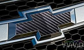 Amazon Com Vvivid Techart Black Carbon Fiber Auto Emblem Vinyl Wrap Overlay Cut Your Own Decal For Chevy Bowtie Grill Rear Logo Diy Easy To Install 11 80 Inches X 4 Inches Sheets X2 Automotive