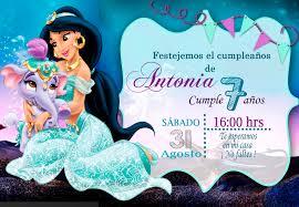 Tarjetas De Cumpleanos Para Imprimir Invitacion Personalizada Aladin