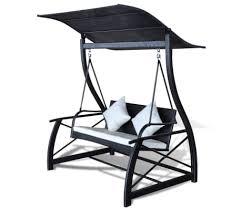 vidaxl garden swing bench poly rattan