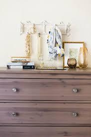 jewelry hooks over dresser