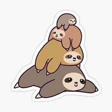 Sloth Family Stickers Redbubble