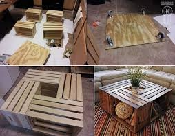 crate coffee table upcycle that