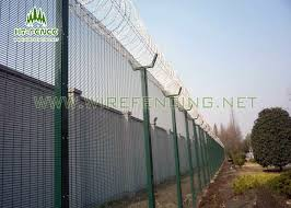 2 4m Height Security Steel Fence 4 0mm Wire Pvc Coated For Towder Station