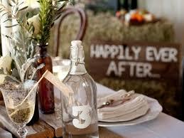 mason jars and wine bottles