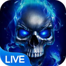 blue fire skull live wallpaper apk 1 5