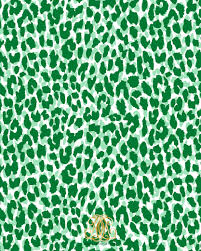 spotted leopard green gift wrap