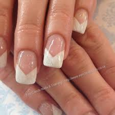 white french tip acrylic nail designs
