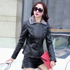 5 women winter fur lining jacket thick