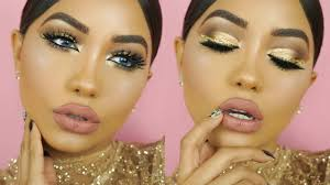 new years eve gold glitter makeup
