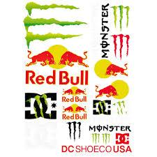Big Size Motocross Racing Helmet Jdm Monster Redbull Vally Car Sticker Decal Shopee Malaysia