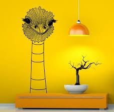 Ostrich Wall Decal Wall Vinyl Sticker Camel Bird Animal Home Etsy