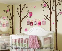 Birch Trees Nursery With Owls For Baby Room Owl Decals In Forest