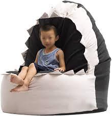 Amazon Com Fun Shark Bean Bag Kids Sofa Filled Bean Bag Chair Children S Room Lounge Chair Oxford Cloth Bottom Detachable Cover 2 Colors Color Black Kitchen Dining