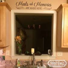 Meals And Memories Are Made Here Vinyl Wall Decal Sticker Art Lettering